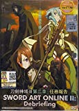 SWORD ART ONLINE 2 : DEBRIEFING JAPANESE ANIME DVD + FREE SHIPPING Japan Anime / English Subtitles