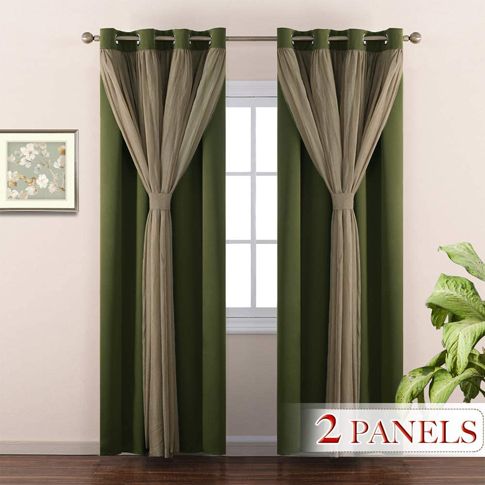 NICETOWN Home Decoration Double-Layer Bedroom Window Treatment Sage on decorating with patterns using 2 windown treatments, decorating mirrors, decorating tools, decorating bay windows, decorating window designs, decorating skylights, decorating bedroom, decorating windows curtains, decorating shoes, decorating living room curtains, decorating wallpaper, decorating lamp shades, decorating wall treatments, decorating a garden window, decorating cabinets, decorating vinyl siding, decorating vertical blinds, decorating bathrooms, decorating glass,