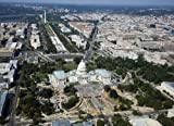 Photography Poster - Aerial of the U.S. Capitol under restoration Washington ...