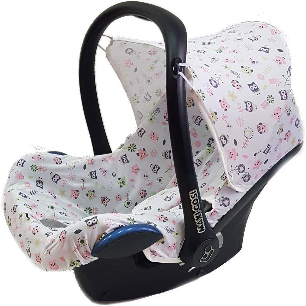 Juego completo de fundas para asiento de beb/é Maxi-Cosi Cabrio Pebble y otros rosa Hearts Dark Talla:3er Komplettset Sweet Baby