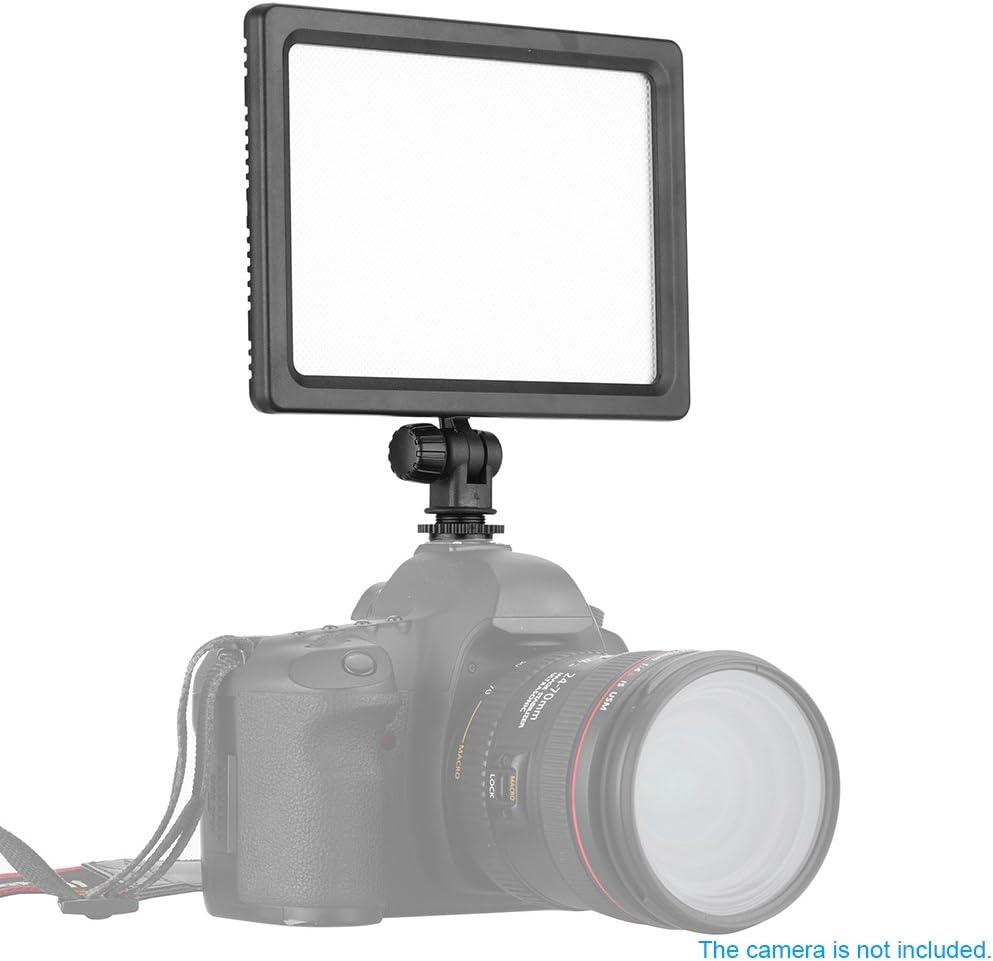 Andoer 112pcs Beads Ultra Thin 3200K-5600K Adjustable Color Temperature Dimmable Illumination LED Light Pad Panel Lamp for Canon Nikon DSLR Camera DV Camcorder