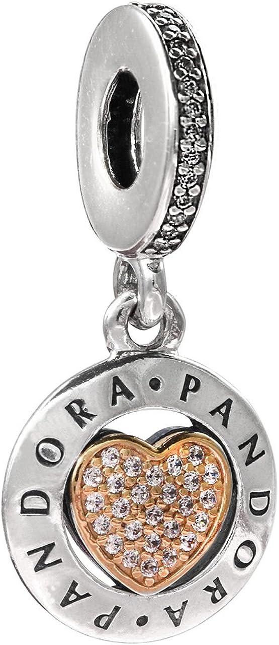 Pandora Women's Signature Heart Pendant Charm - 792082CZ