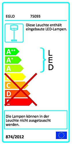 led 24 5 watt stehlampe stehleuchte beleuchtung lampe leuchte eglo pontalon 75093. Black Bedroom Furniture Sets. Home Design Ideas