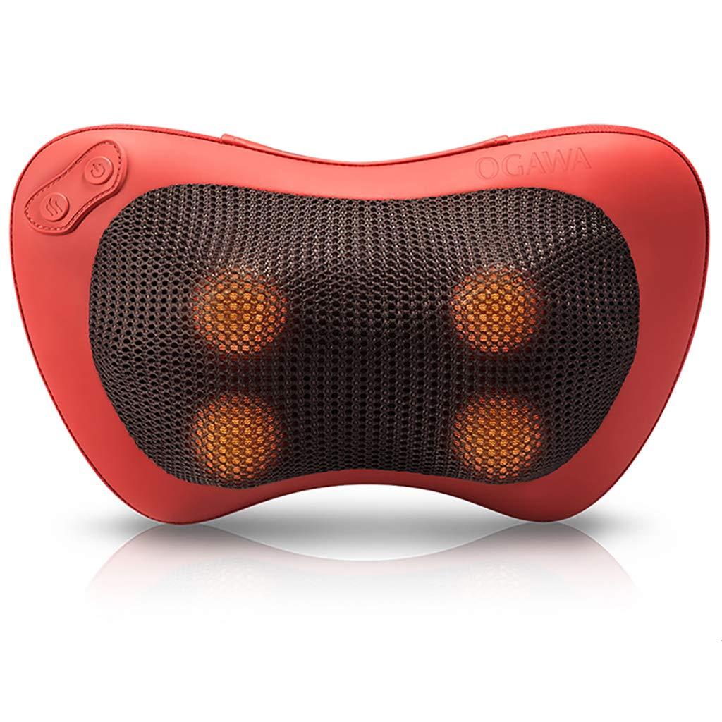 家の首のマッサージの枕、首、腰、肩の疲労、堅さおよび苦痛救助のための携帯用多機能のマッサージャー - 家、オフィス、車 B07TT2C9R4 red