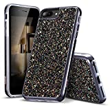 esr iPhone 7 Case,iPhone 6 Case, Bling Glitter Sparkle Dual Layer Shockproof Hard PC Back + Soft TPU Inner Shell Skin for 4.7' iPhone 7/6(Black)
