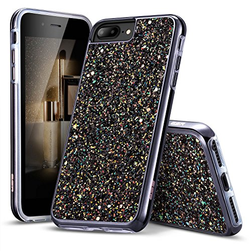 ESR iPhone 7 Case,iPhone 6 Case, Bling Glitter Sparkle Dual Layer Shockproof Hard PC Back + Soft TPU Inner Shell Skin for 4.7