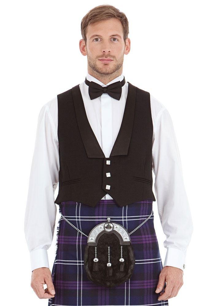 Kilt Society Mens Scottish Black Prince Charlie Kilt Jacket & Vest 52 Regular by Kilt Society (Image #8)