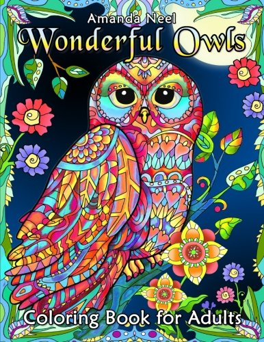 Wonderful Owls Coloring Book For Adults