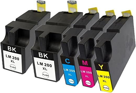 1 Black 3 Color 200XL ink Cartridge for Lexmark OfficeEdge Pro 4000 5500 5500T