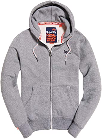 Superdry Sweat Shirt à Capuche Homme Gris Vintage Grey