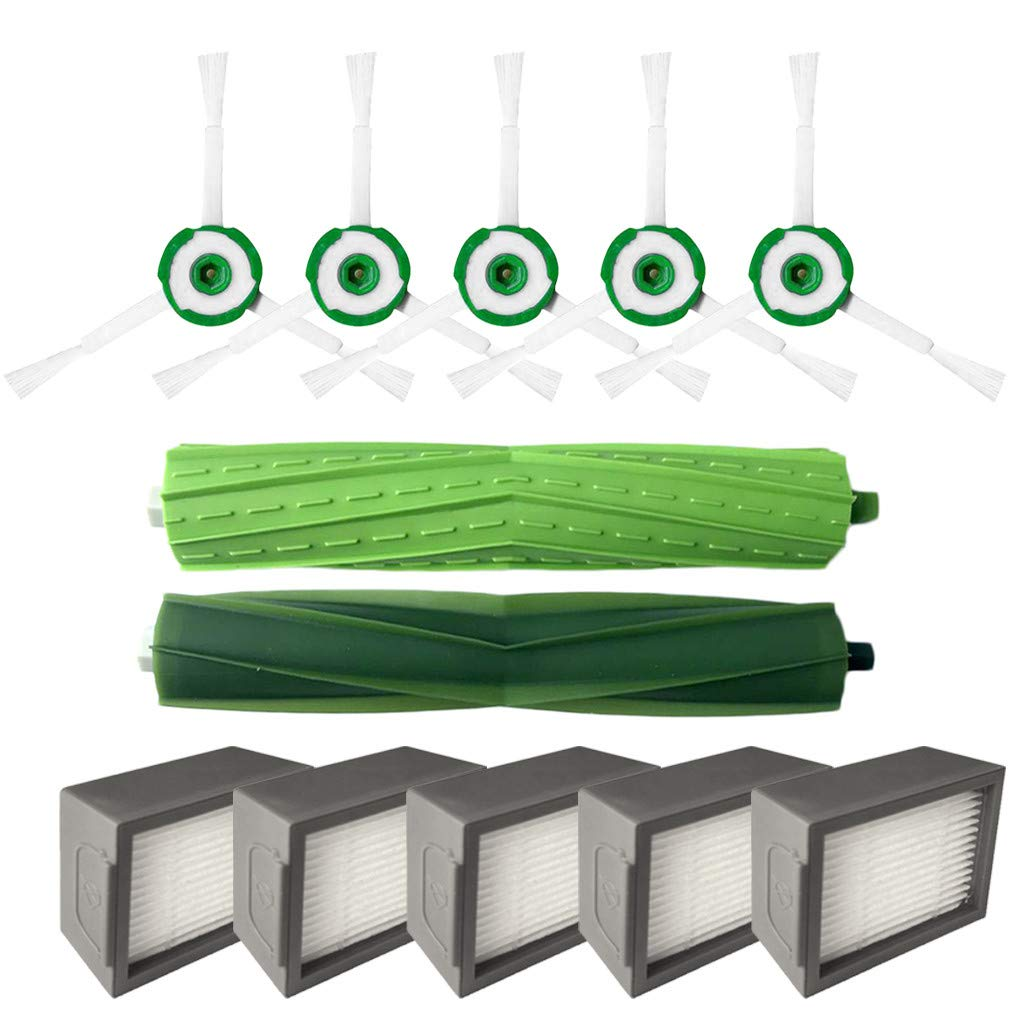 Moserian Side Brush & Hepa Filtro & Bristle Brush para iRobot ...