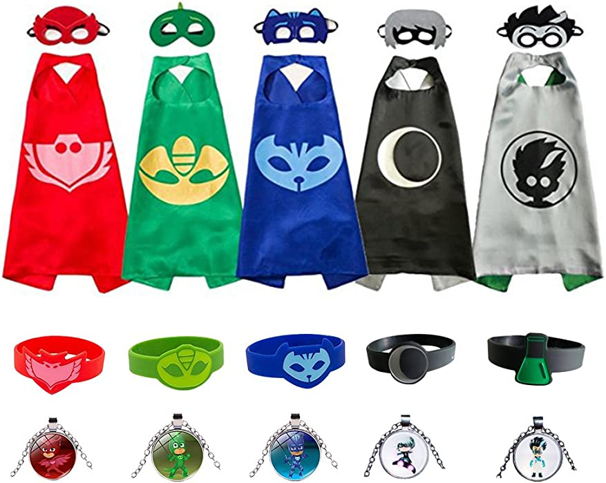 Kids Capes and Masks Costume for Catboy Owlette Gekko Romeo Luna Girl
