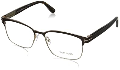 6eedf4cafef8 Image Unavailable. Image not available for. Color  Tom Ford FT5323 Square  Metal Optical Brown Rose Gold Eyeglasses ...