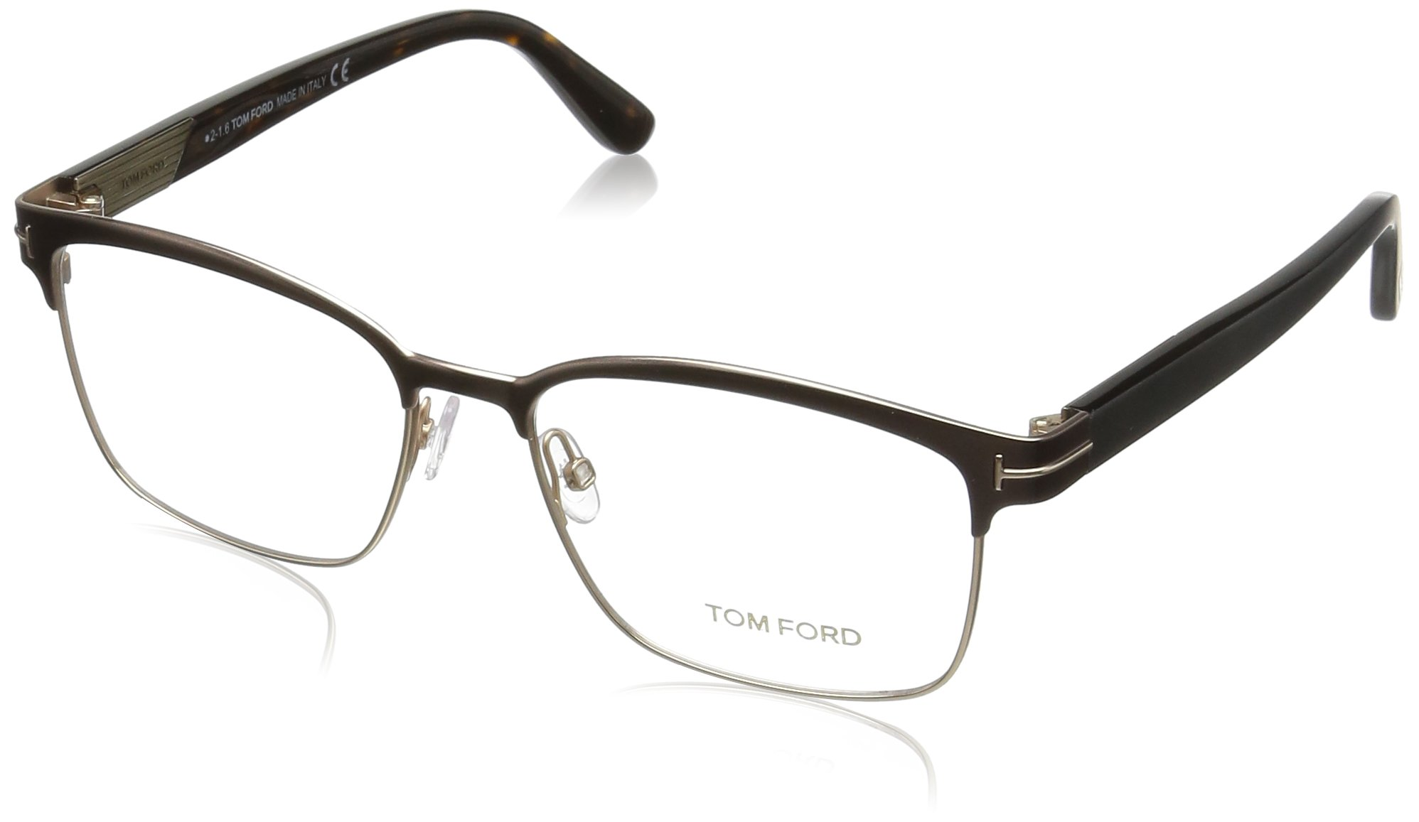 9379ee22f3 Tom Ford FT5323 Square Metal Optical Brown Rose Gold Eyeglasses TF5323 048  New