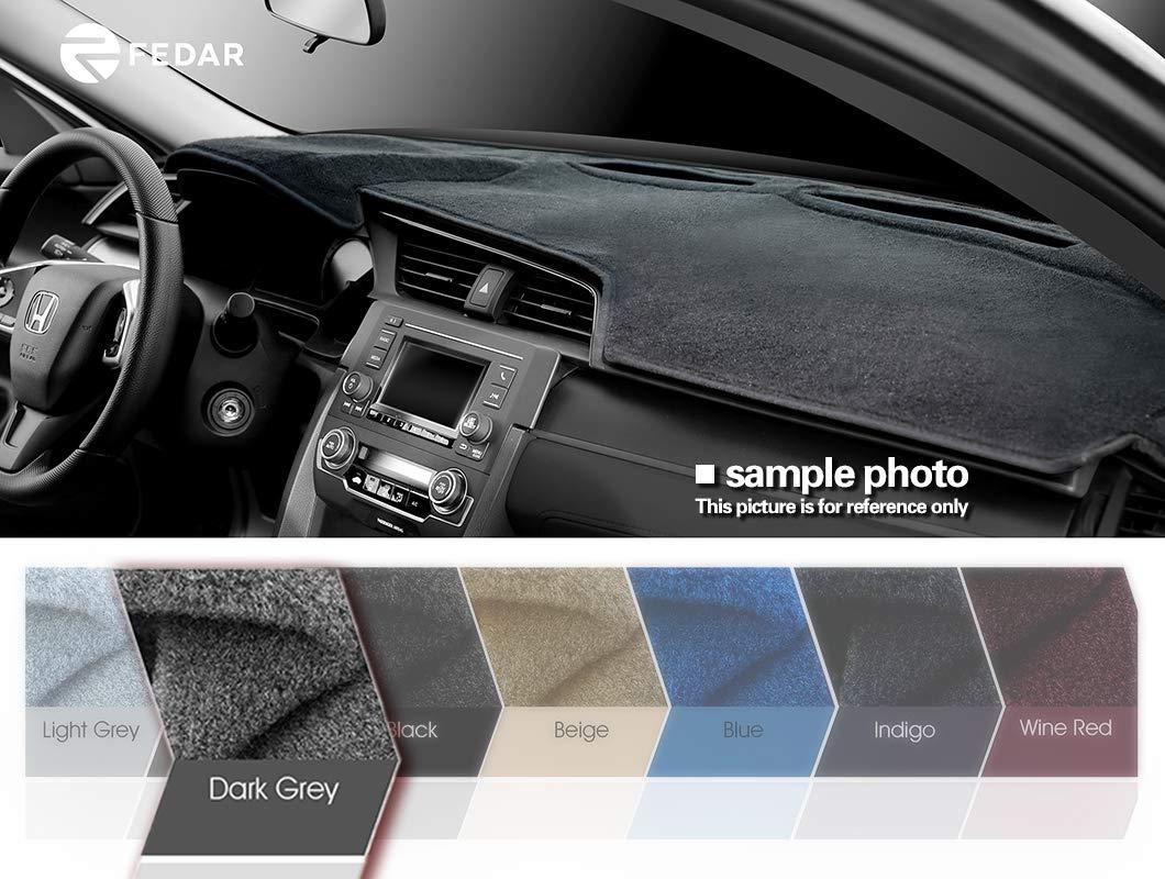 Fedar 2004-2010 Toyota Sienna Dashboard Cover Mat Pad-Dark Grey
