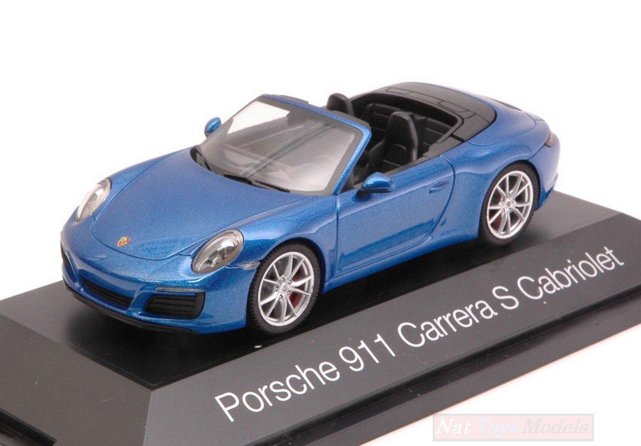 HERPA HP7099 PORSCHE 911 CARRERA S CABRIOLET 2016 METALLIC BLUE 1:43 DIE CAST