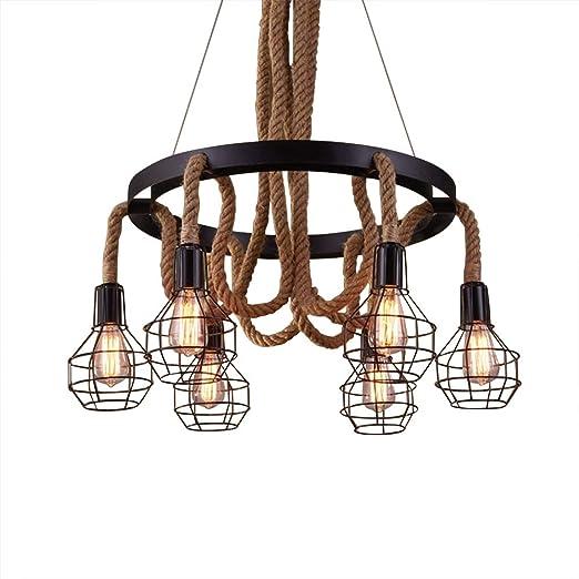 Ruanpu Vintage Ceiling Lighting Cuerda Lámpara colgante Luz ...