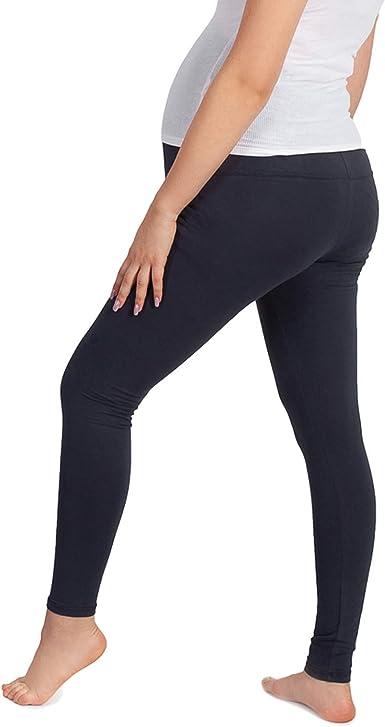 Leanbe L-AVRILE 02 - Leggings largos para embarazadas, algodón, color gris oscuro gris oscuro L: Amazon.es: Ropa y accesorios