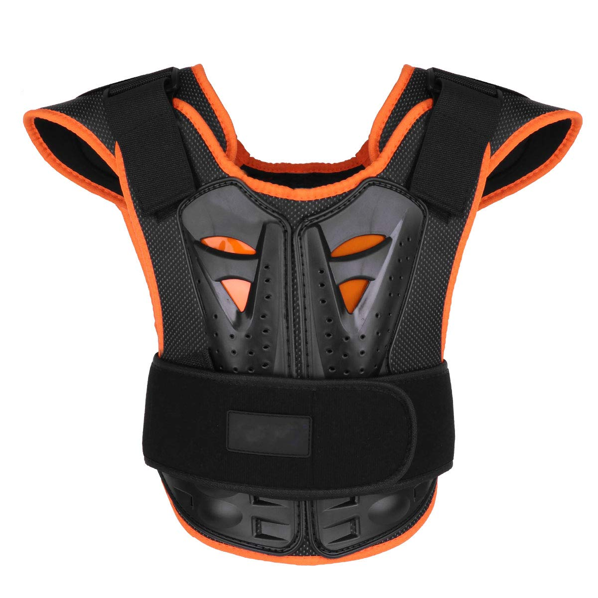 CHICTRY Kids Children Armor Vest Dirt Bike Body Chest Spine Reflective Protective Gear for Bicycle Motorcycle Cycling Skiing Riding Skateboarding Black L