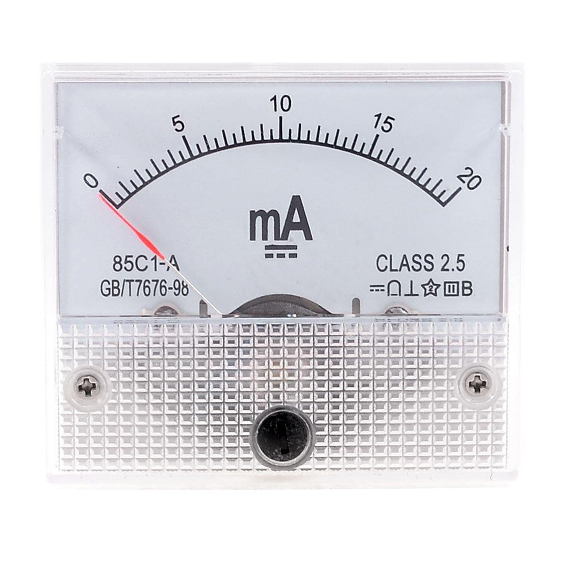 Sourcingmap a13051400ux0383 - Dc 0-20ma corrente metri pannello analogico amperometro 85c1-a