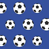 Belgravia Moda Childrens Football Pattern Goal Soccer Sports Wallpaper (Dark Blue 9721)