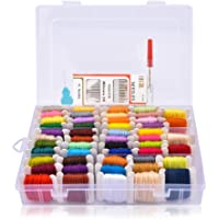100 Skeins Embroidery Floss Wrapped with Organizer Storage Box