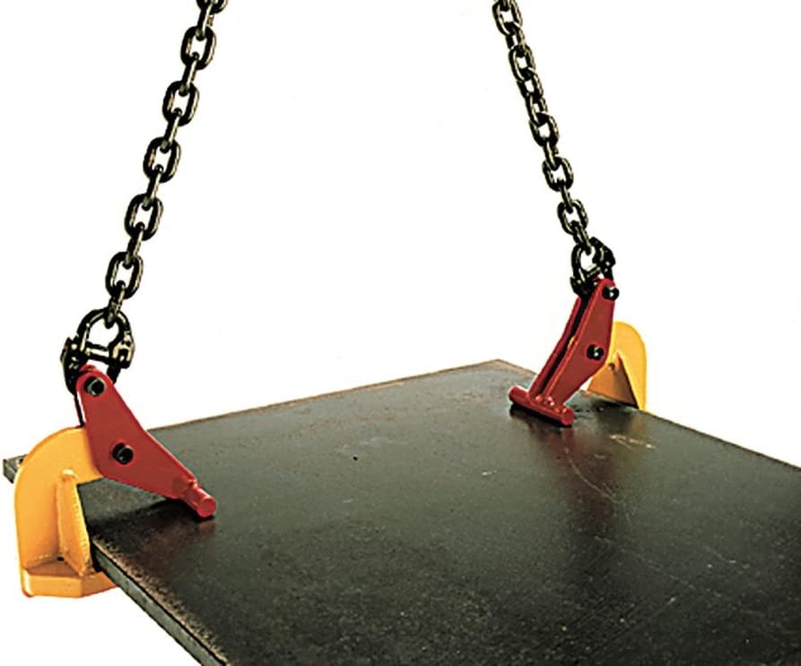 Tractel 51038 - topal TLH1 0-60 horizontal lifting plate clamp, working load limit of 2,200 lbs. (1,000 kg), opening of 0-2 3/8 in. (0-60 mm): Home Improvement