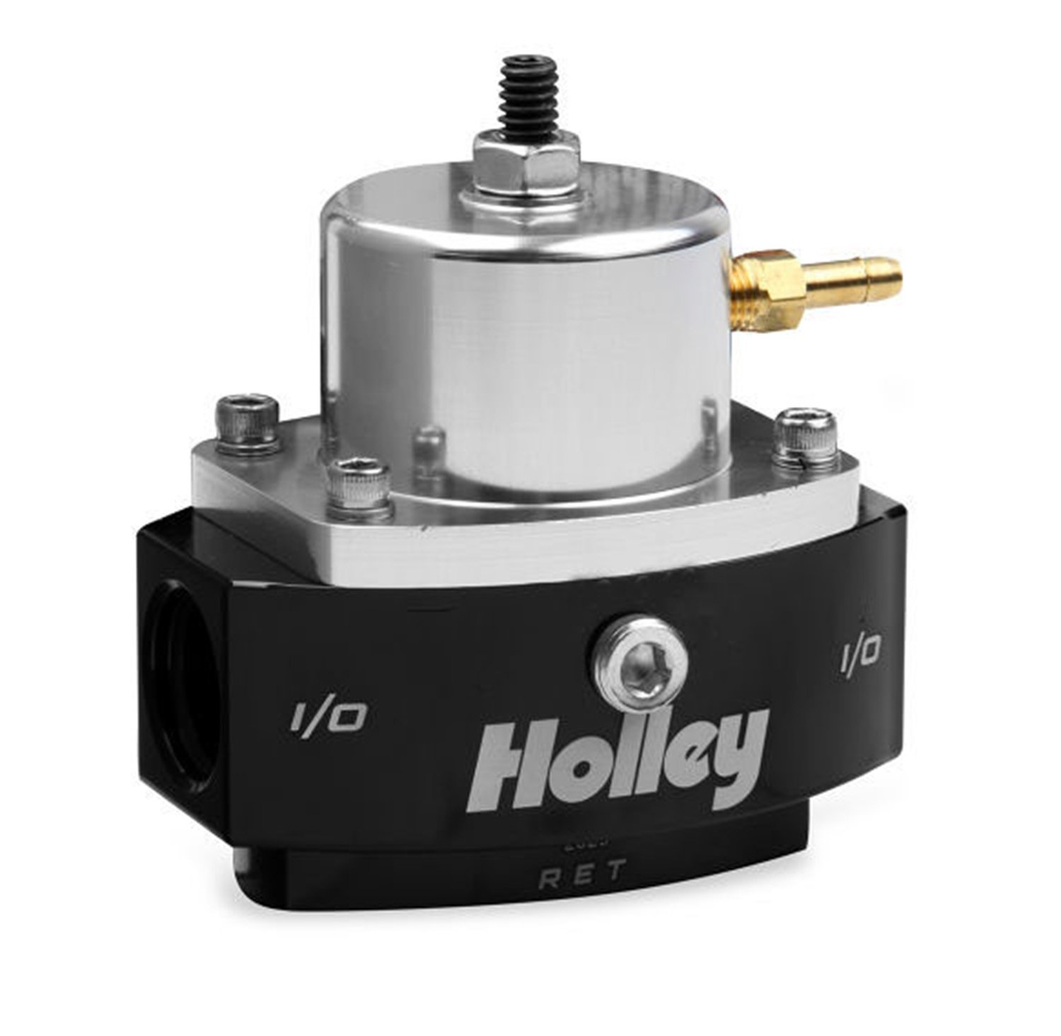 Holley 12-846 8AN Inlet / Outlet 6AN Return 40-70 PSI Billet Fuel Pressure Regulator by Holley (Image #1)