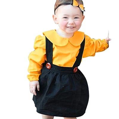 2PC Girls Outfits pleine Romper + jupe robe [ filles Tutu salopettes robe ]