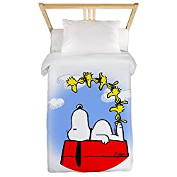 CafePress Peanuts - Woodstock Twin Duvet Twin Duvet Cover, Printed Comforter Cover, Unique Bedding, Microfiber