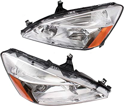 Brock Replacement Passenger Fog Light Cover Compatible with 06-07 Accord Sedan