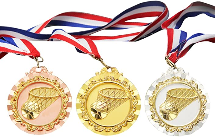 Funpa Medalla De Baloncesto, 3PCS Medalla Grabada Medalla De La ...