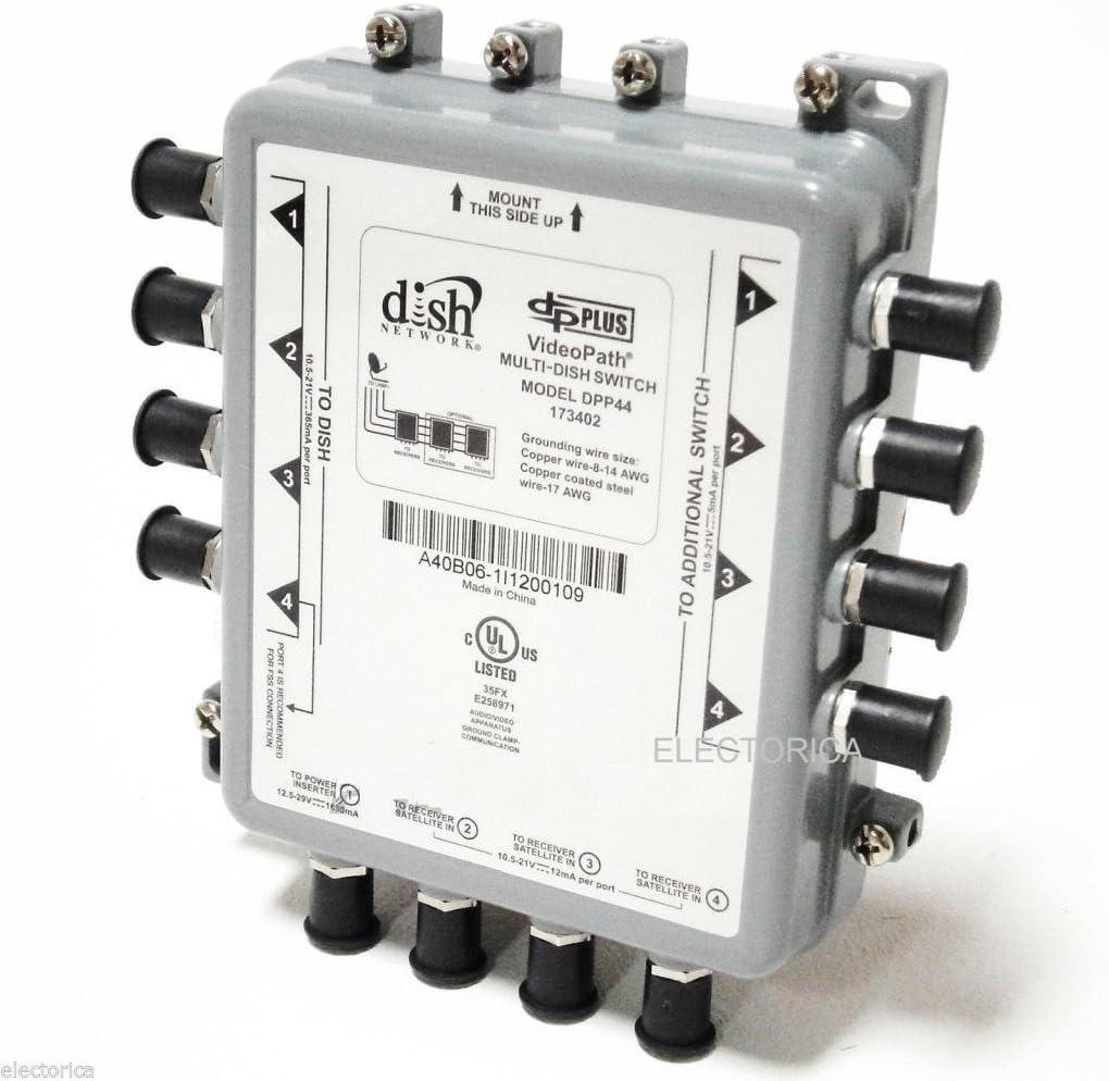 USED DISH NETWORK DPP44 DPP-44 MUTLI-DISH SWITCH DISH PRO PLUS w// POWER INSERTER