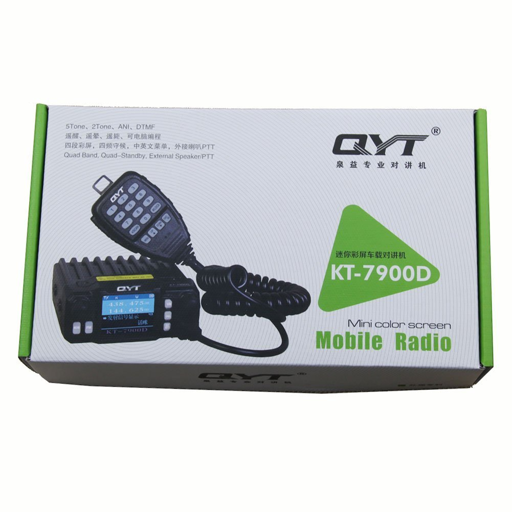 QYT KT-7900D Quad Band 25W 144//220//350//440 MHz Car Mobile Radio Transceiver Mini