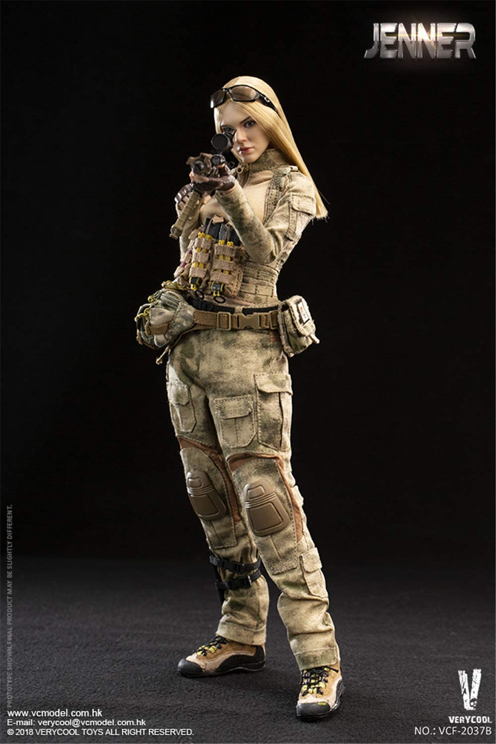 """VERYCOOL VCF-2037B 1//6 Scale Female Soldier Jenner 12/"""" Action Figure Head Sculpt"""