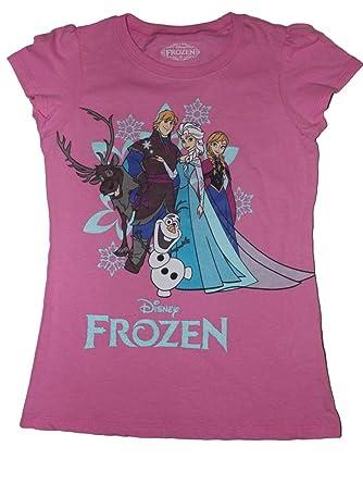 8422fc413 Amazon.com: Disney Frozen Girls T-Shirt (4-16): Clothing