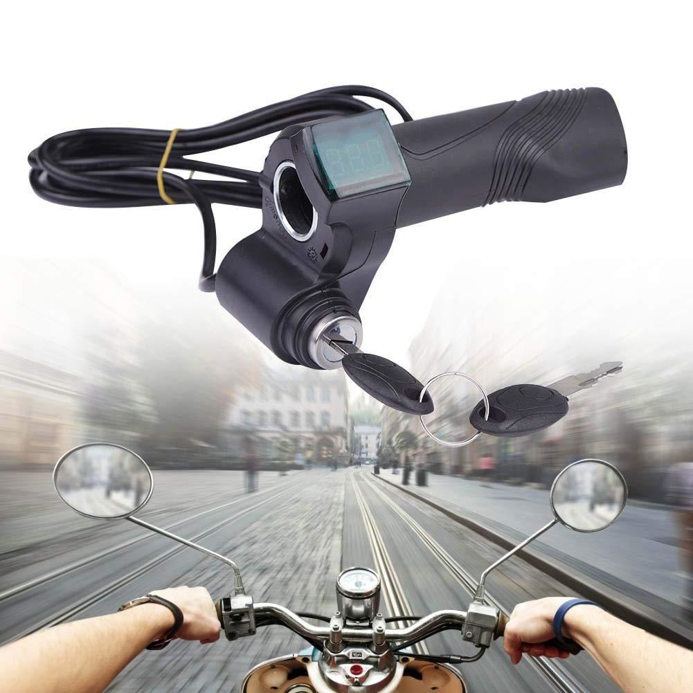 Tbest Empu/ñadura de Acelerador de Bicicleta el/éctrica Control de Velocidad Empu/ñadura de Acelerador 48V 36V 24V 60V Pu/ños de Manillar para Scooter E-Bike