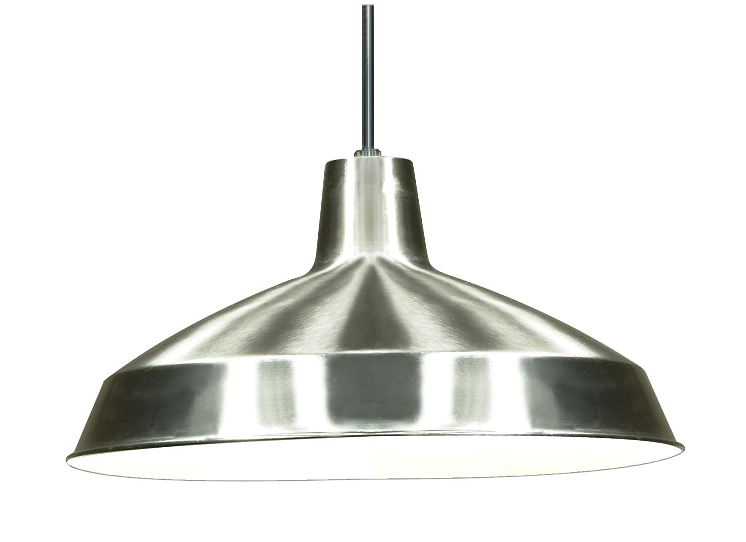 lighting fixtures industrial. nuvo lighting sf76661 warehouse shade brushednickel ceiling pendant fixtures amazoncom industrial