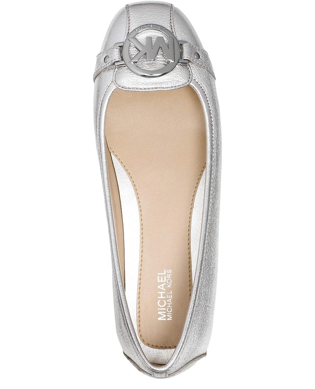 15ce72bb6469c Michael Kors MK Women's Premium Designer Fulton Moccasin Flats Silver (6.5)