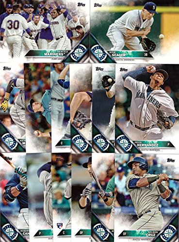 2016 Topps Series 1 Seattle Mariners Baseball Card Team Set – 14 Card Set – Includes Felix Hernandez, Nelson Cruz, Robinson Cano, Kyle Seager, and more!