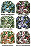 Set of 6 Crystal Butterfly Hair Holder Barrettes, 1 Ea of 6 Colors, YY86900-4-6argpgsa