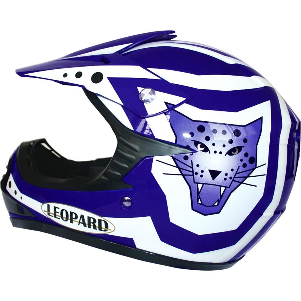 Leopard LEO-X17 Casco de Motocross para Ni/ños y Guantes y Gafas ECE Homologado