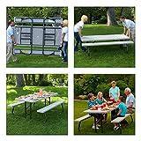Lifetime 22119 Folding Picnic Table, 6 Feet, Putty