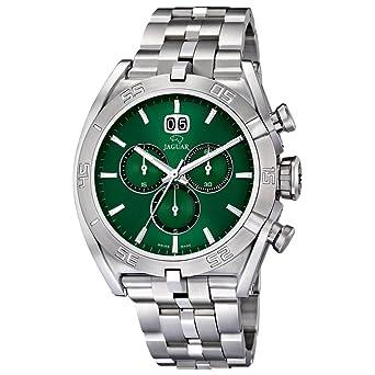 Armband Armbanduhr Silber Jaguar Herren Analog Sport Edelstahl Quarz wm8ONn0v