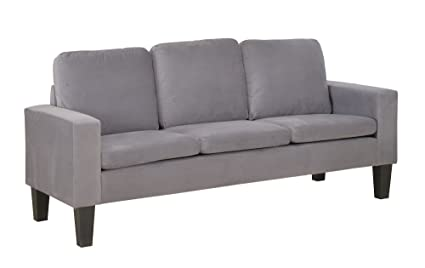 Amazon.com: NHI Express Sarah Microfiber Sofa, Gray: Kitchen ...