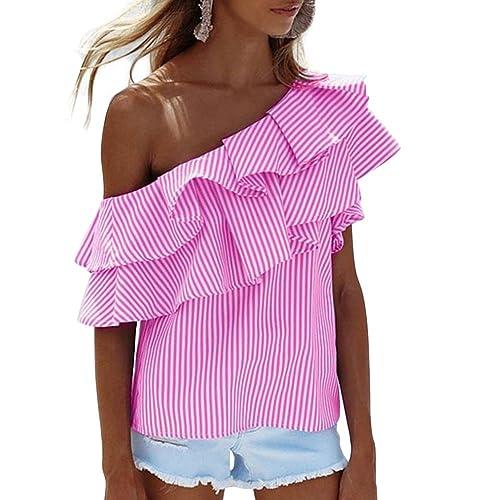 Vin beauty wlgreatsp Sexy Strapless Irregular con Flecos Camisa de Blusa