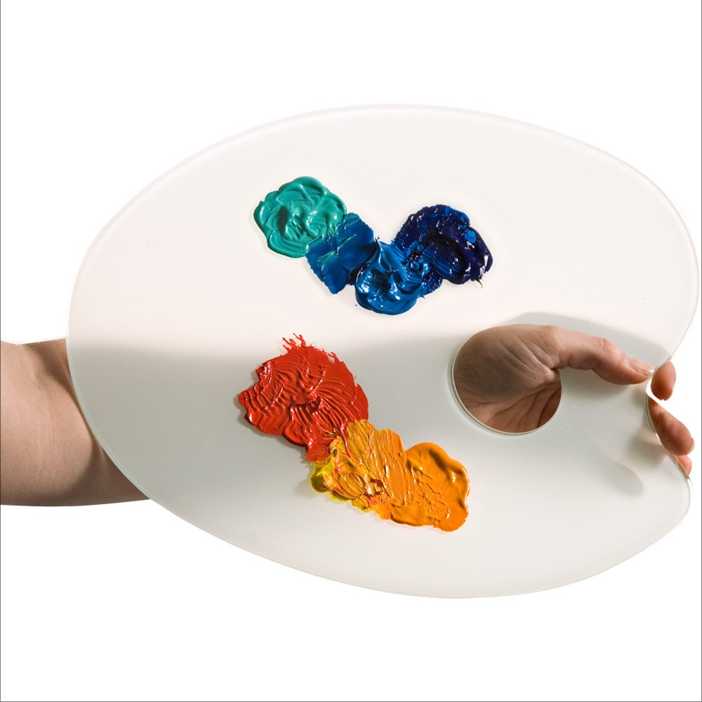 Amaco Glass Artists Palette classic palette shape by AMACO