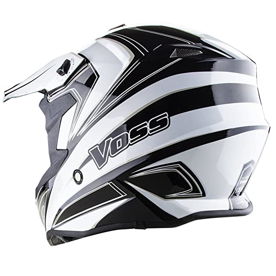 Amazon.com: Voss X1 Pro Magneto Graphic Motocross Helmet with Quick Release - M - White Magneto: Automotive
