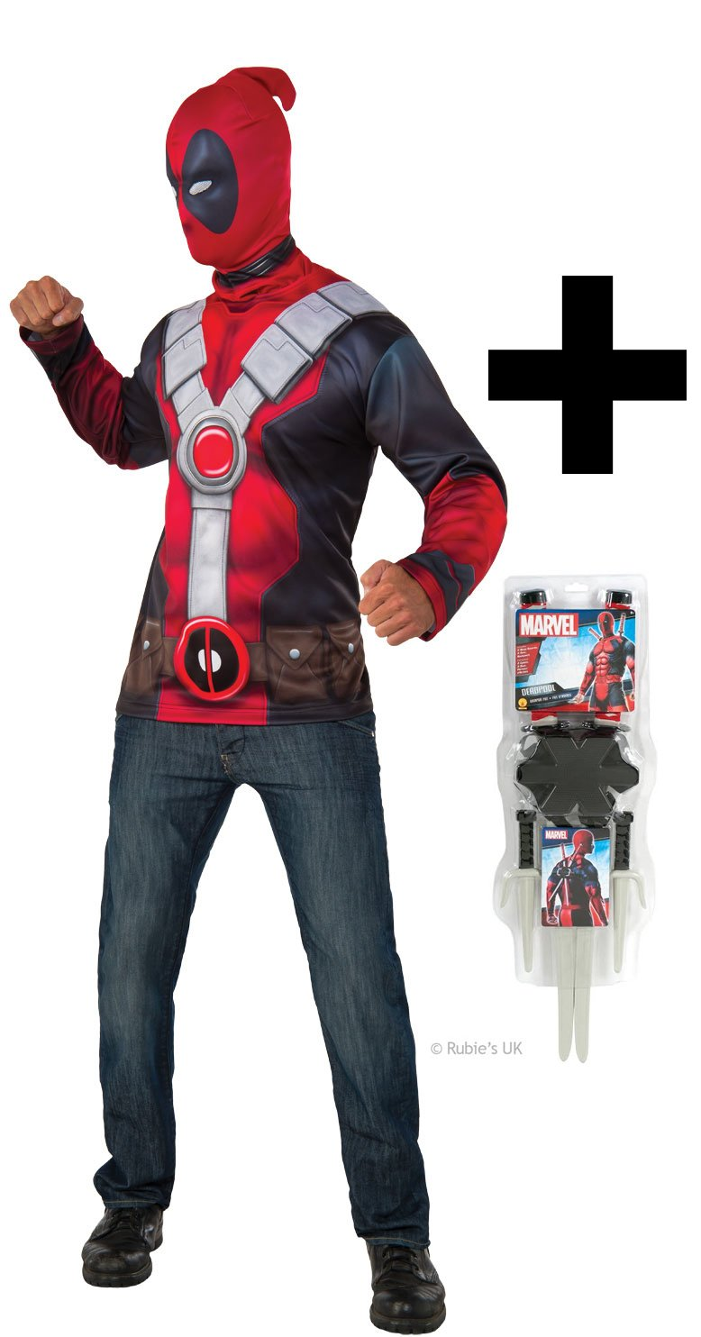 MFD Deadpool Top Costume Standard + Weapon Kit  Amazon.co.uk  Toys   Games fd6b45697