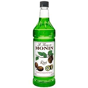 Monin Flavored Syrup, Kiwi, 33.8-Ounce Plastic Bottle ( 1 liter)